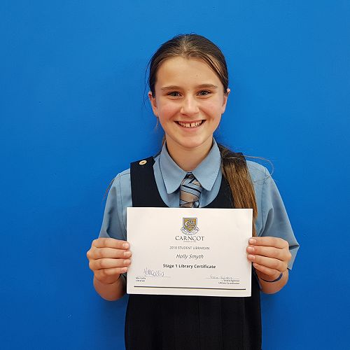 Holly Smyth - Stage 1 Library Certificate