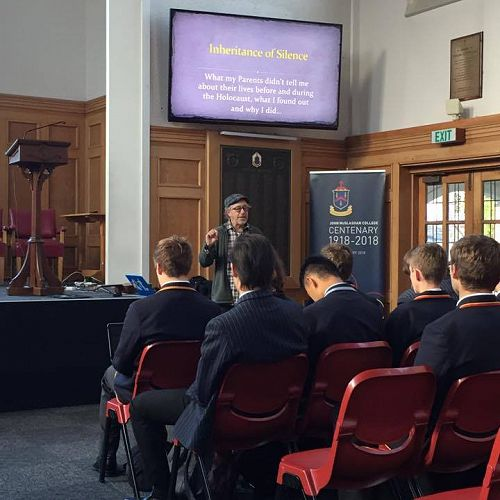 New Zealand Holocaust Centre Visit to John McGlashan College