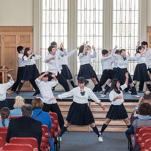 Ichikawa High School Farewell - Song & Dance Performance - John McGlashan College Chapel
