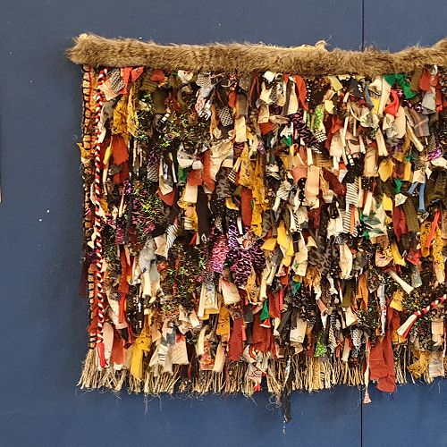 Come and visit our beautiful korowai hanging in the foyer which all Kaurilands school children have had a part in making.