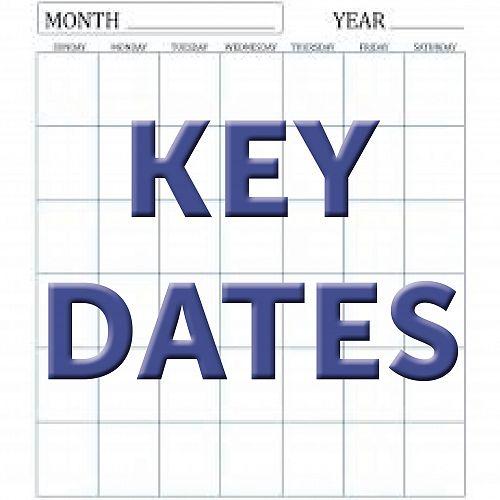 2019 CGHS Key Dates