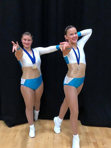 Pre-choreographed group silver medalists