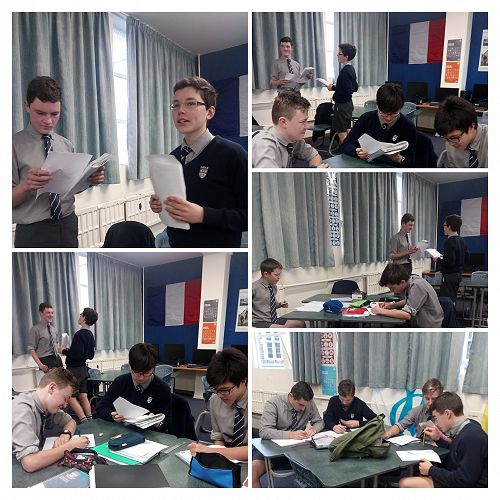 Year 10 French students play Cluedo in French to f