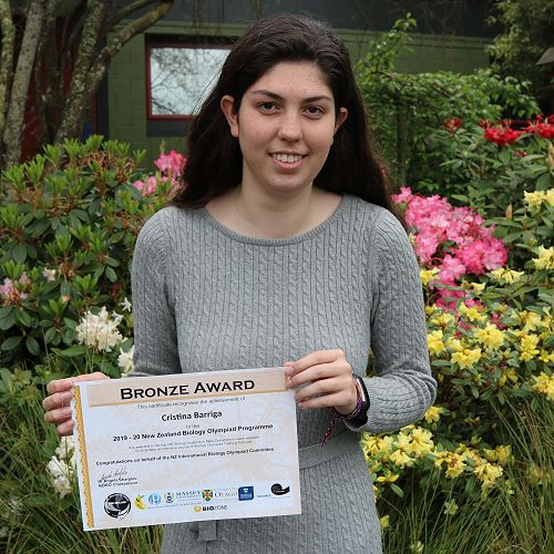 NZ Biology Olympiad Programme course selection achievement