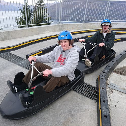 Josef and Ben in the Fast and Furious Queenstown edition...