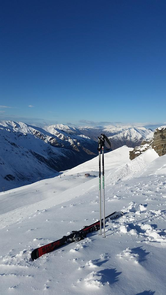 View from the top - Treble Cone, Wanaka
