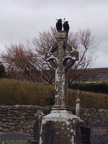 High Cross with crows