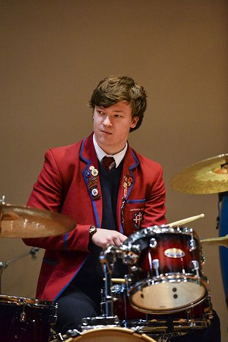 Riley on Drums