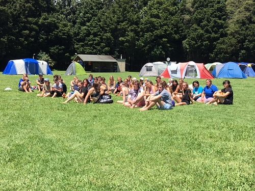 Year 13 Camp - Our campsite