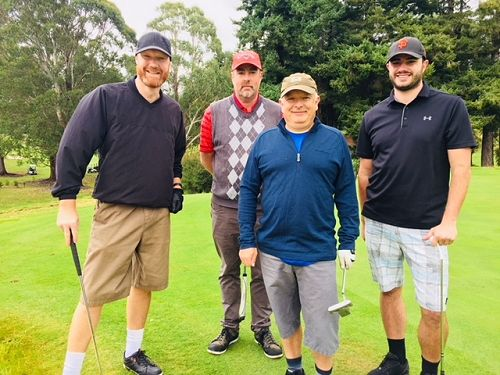 The Firebrand crew ready to hit the course
