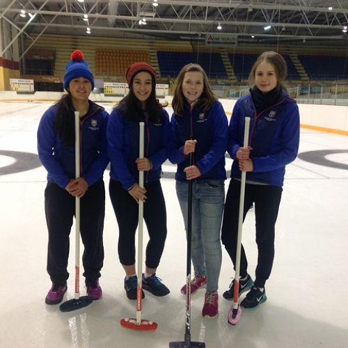 From left: Grace Bishop, Temika Bishop, Elizabeth Aldus, Emily Armstrong-Sagvari