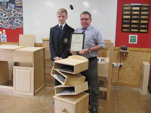 Adam with teacher Mr Odgers