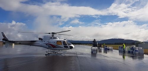 The wide Fiordland skies and Manapouri Airport.
