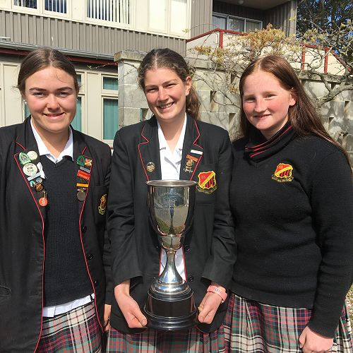 WGHS Trapshooting Team, Winners of the Points Score Teams Event at NZSS Championships.