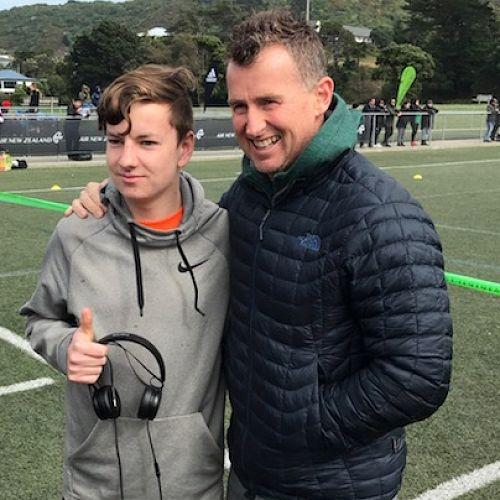 Jordan Worrall and Nigel Owens.