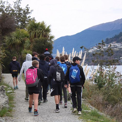 Walking beside Lake Wakatipu
