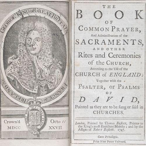 Book of Common Prayer, 1747