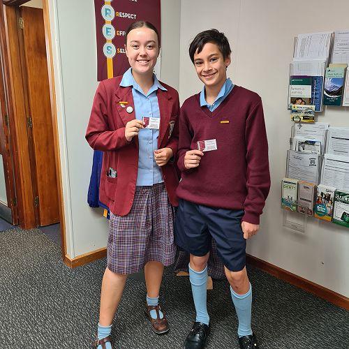 McAuley House winners Anya O'Connor & Isaiah Te Puke