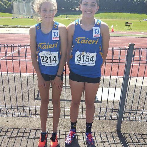 Jorja and Sarah at the Otago Athletics Champs