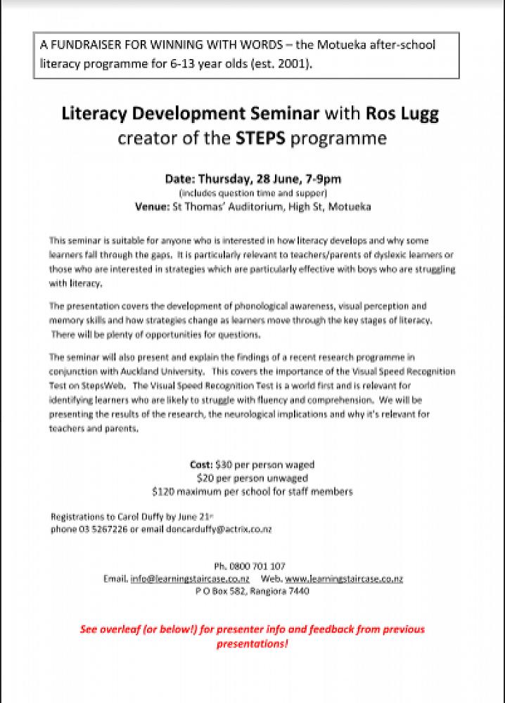 Literacy Development Seminar