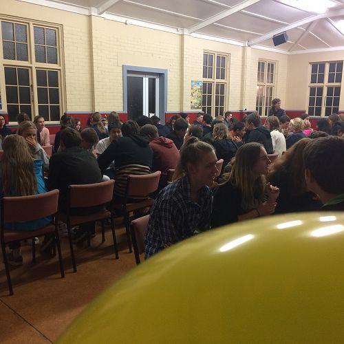 An entire room full of spoken German!