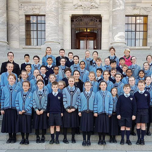 Year 6-8 visit Parliament in Wellington