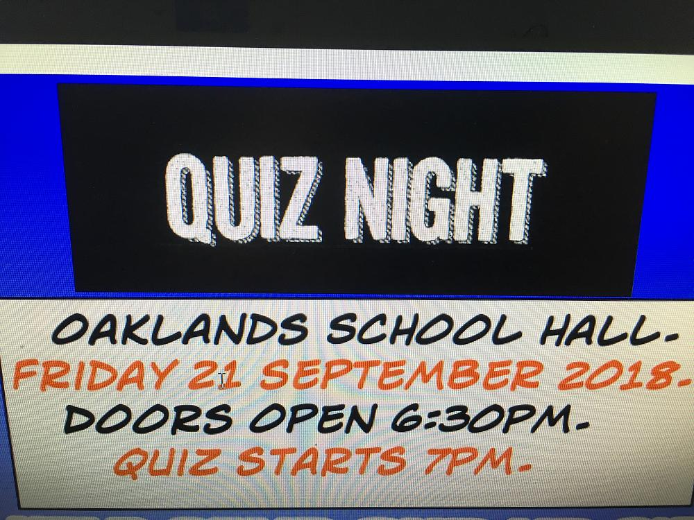 Quiz Night 2018 - Tickets on sale from the office