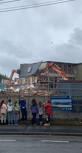 The Senior building getting demolished