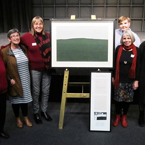 Young Old Girls with the McCahon painting they gifted to CGHS