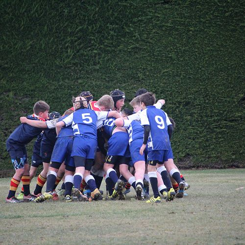 Waihi Rugby match... A tough battle in the icy conditions. Final score was 62-48 to the home team.