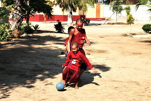 The beautiful game, Mingun, Myanmar
