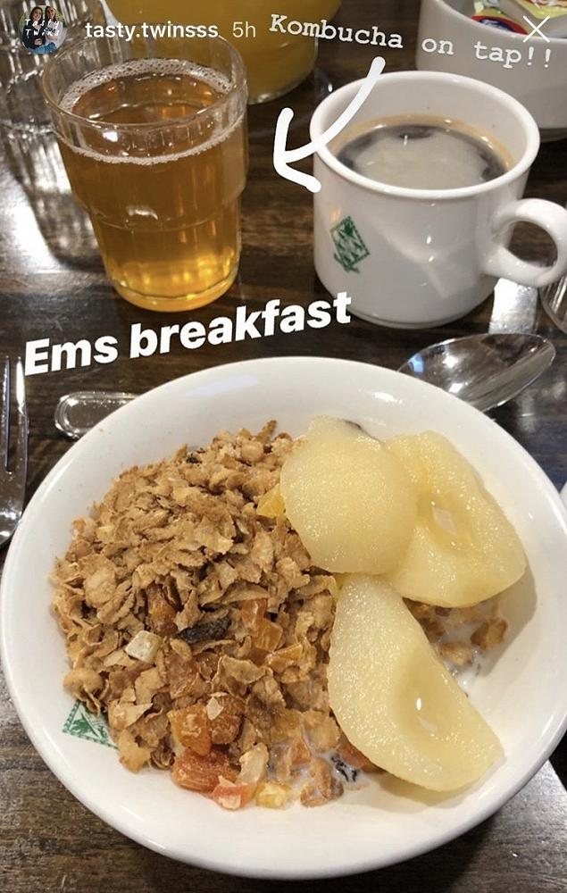 Emily's breakfast at SMC - posted on their Instagram site on the day of the talk. (Image supplied by Alexandra McLennan)