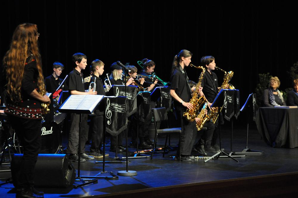Jazz Band on stage at NZEI Graduation