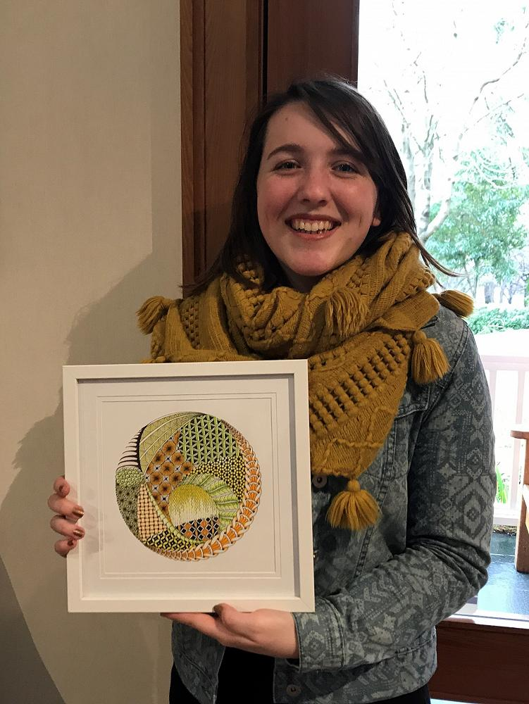 Sera Rawson and her winning artwork - 10 September