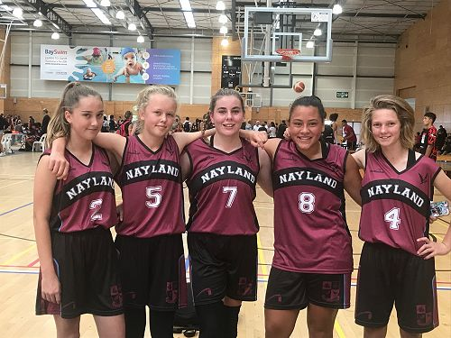 Junior girls 3 x 3 basketball team.