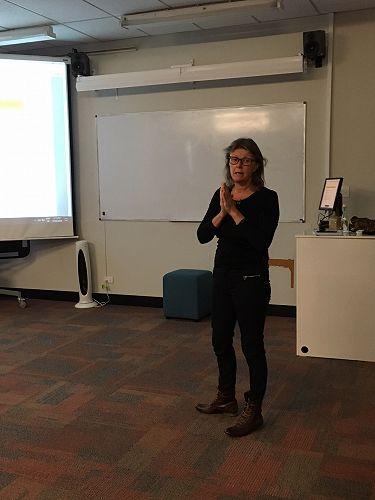 Stephanie Haworth during her presentation.