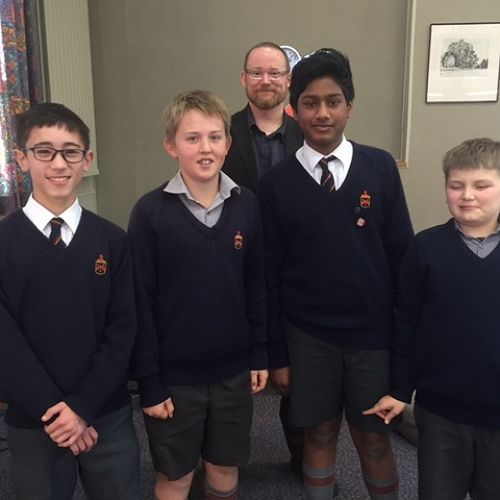 From left William Tong, Alex Wilson, Richard Davison, Sheon Luxmanan and Toby Wafer
