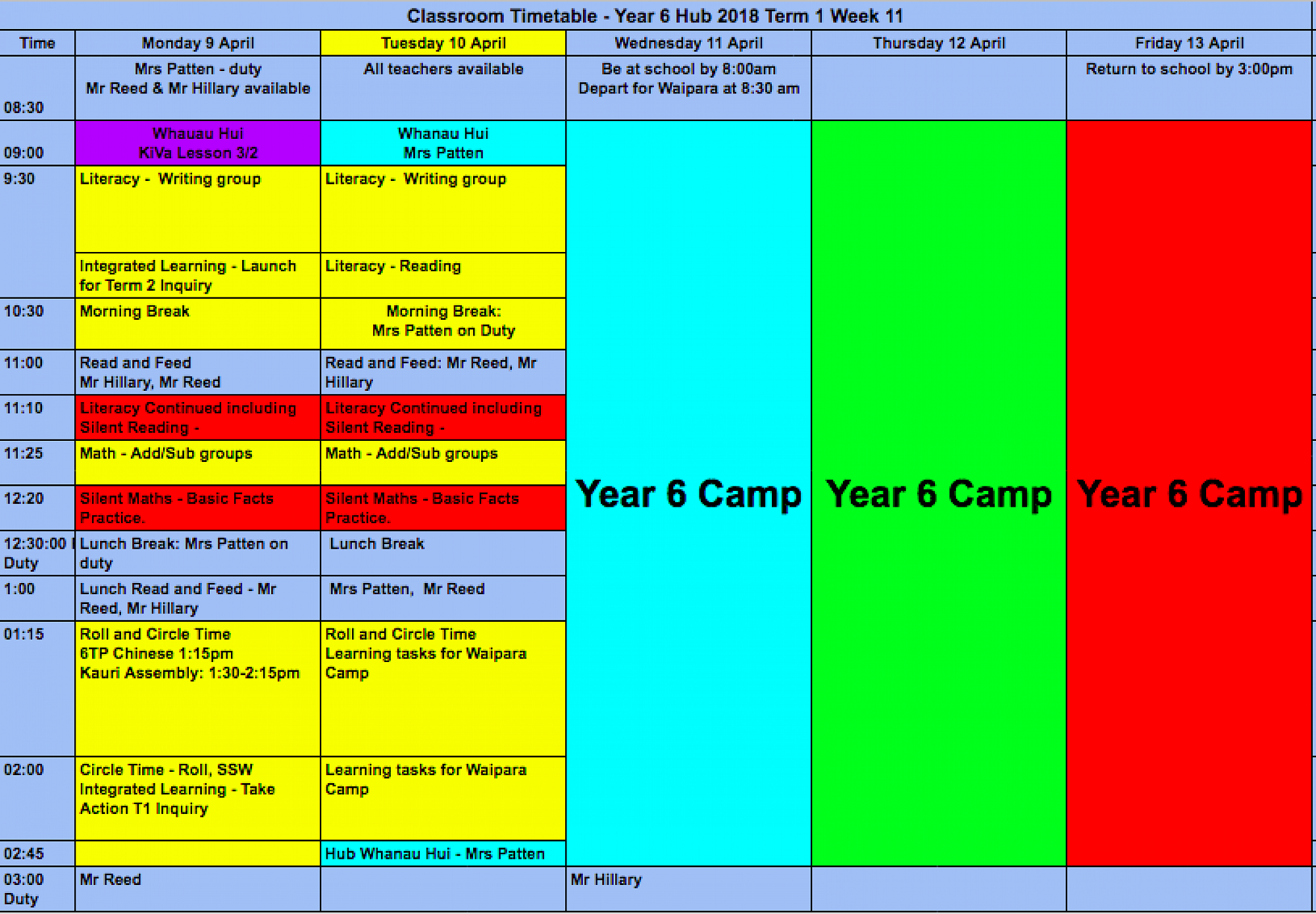 Learning in Week 10 and Timetable for Week 11  - Year 6 Hub Blog