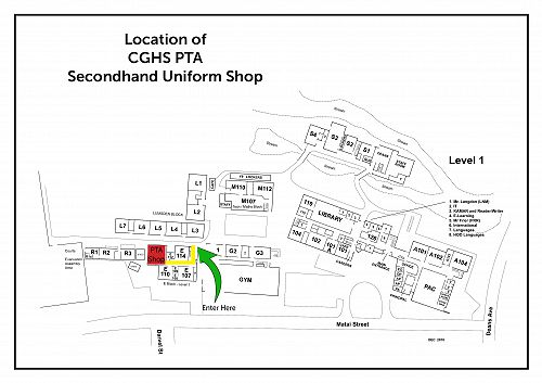 Location of the PTA Secondhand Uniform Shop