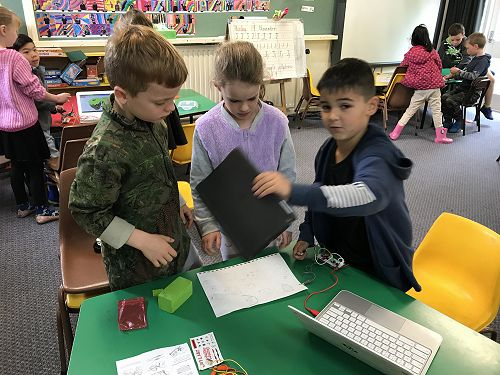 Team work in Room 7 and 9.