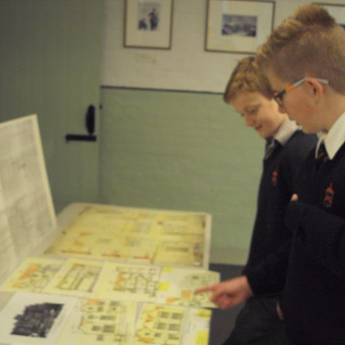 Interest in blue prints and architectural plans for Olveston.