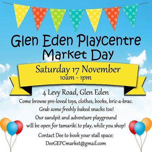 Glen Eden Playcentre Market Day