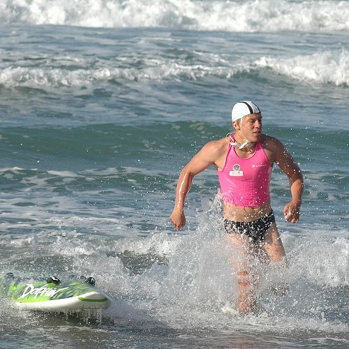 Nathan Wolf in Ironman heat at Surf Nationals