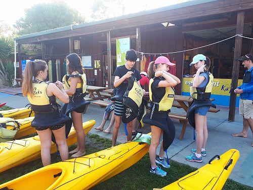 Kayaking preparations