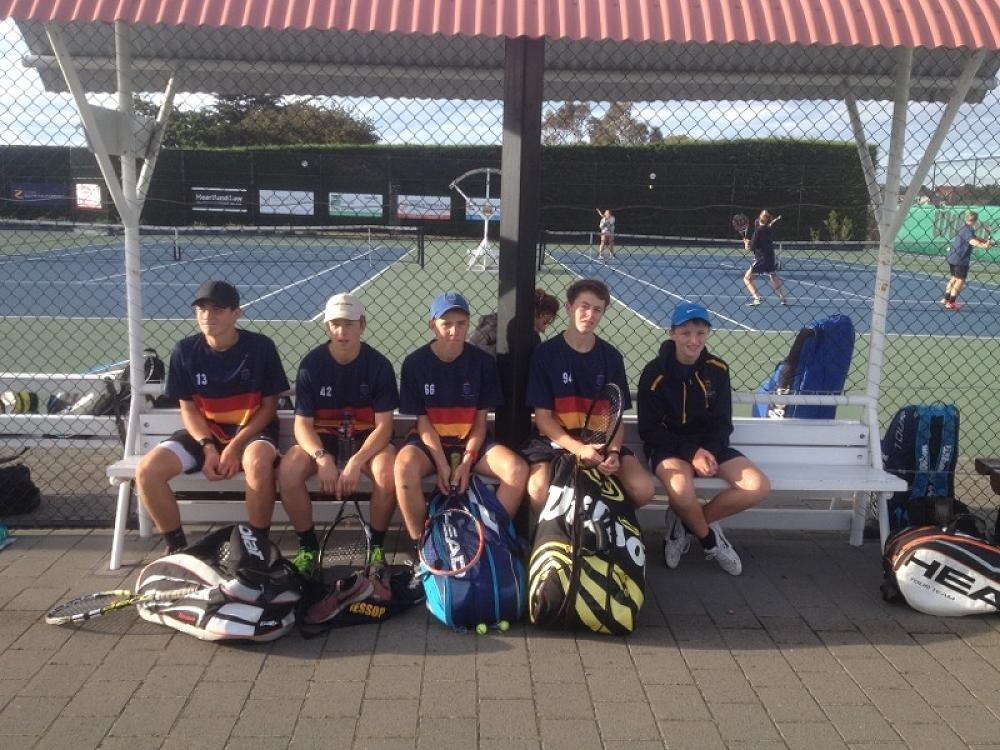 JMC Tennis Team competing at South Island Secondary School Championships, Timaru, 2016