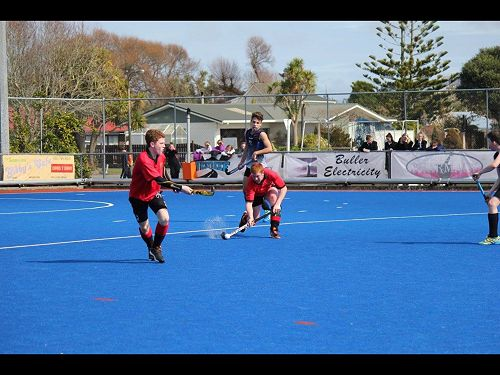 Boys in action at Tournament