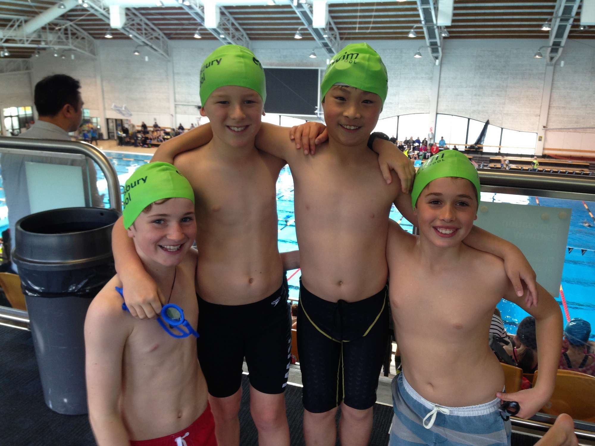 The Year 5 boys relay team