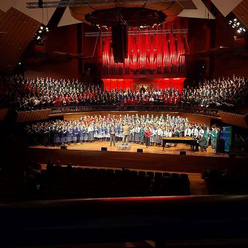 Massed Choir at The Big Sing Regional Gala Concert