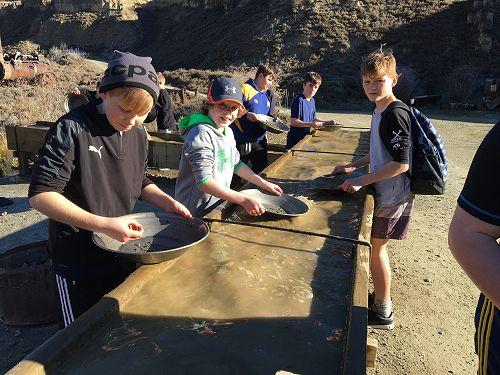 Mining for gold at Kawarau Gorge Mining Centre