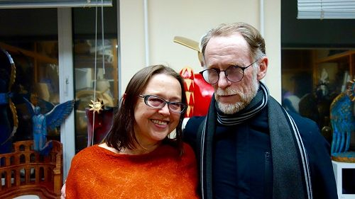 Museum director Elena Lisina and David Howard at t